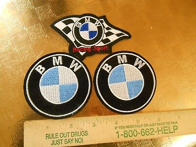3 BMW Advertising Iron on Patches