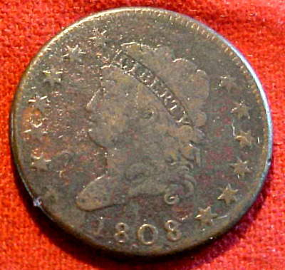 1808 Classic Large Cent.......................min. Bid .01 & No Reserve!