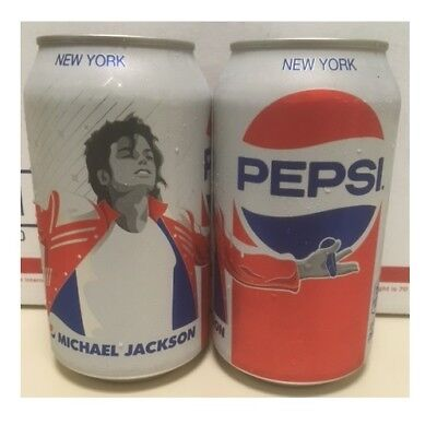 Michael Jackson Limited Edition Pepsi Generations 1 Full White Pepsi Can! RARE!