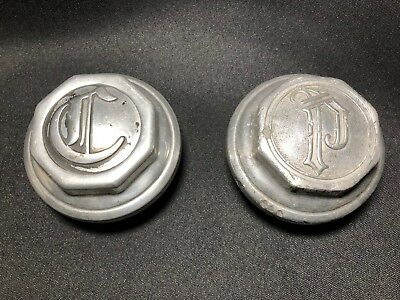 C1920 Plymouth & Chrysler Aluminum Axle Grease Cap Covers