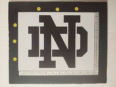 """Notre Dame ND 11"""" x 8.5"""" Custom Stencil FAST FREE SHIPPING"""