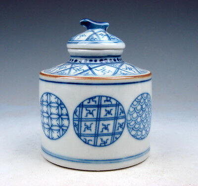 Blue&White QingHua Glazed Porcelain Various Pattern Inkwell Water Pot #08151715