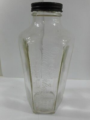 Vintage Macrobertsons Size No 3 Australia Glass Lidded Jar
