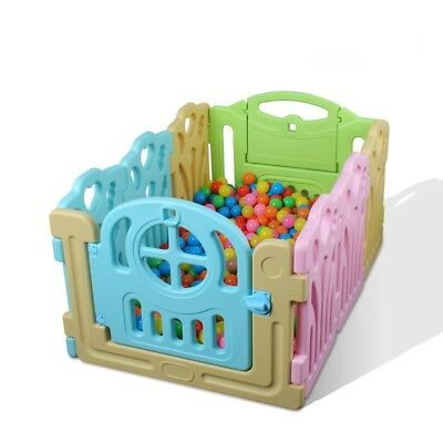 8 PCS Panel Foldable Baby Playpen Kids Security Play Pens Indoor Outdoor Divide
