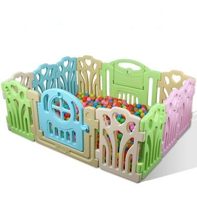 12 PCS Panel Foldable Baby Playpen Kids Security Play Pens Indoor Outdoor Divide