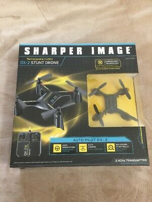 Sharper Image Dx 2 Stunt Drone Rechargeable 24 Ghz 150 Foot Range