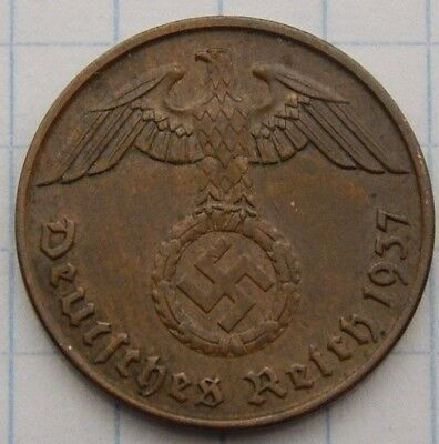 SWASTIKA copper penny ww2 .The real coin,no fakes