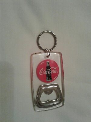 coca cola bottle opener keychain clear plastic