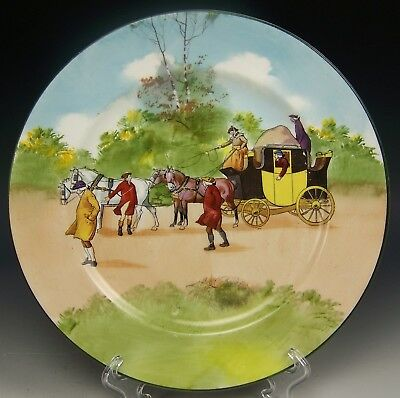 "Royal Doulton Coaching Days Bone Blue Sky 9"" Cabinet Plate (D)"