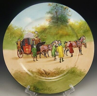 "Royal Doulton Coaching Days Bone Blue Sky 9"" Cabinet Plate (A)"