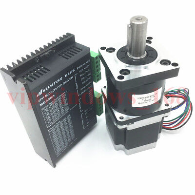 Planetary Gearbox 20:1 Nema23 Stepper Motor Driver Controller Kit 22Nm 3A 4-Wire