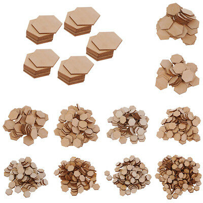 Charming Hexagon Shaped MDF Wood Laser Cut Wooden Embellishment Craft Shapes