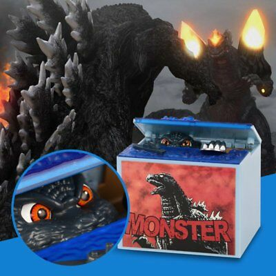 Godzilla Movie Musical Mon-ster Moving Electronic Coin Mo ney Piggy Bank Box Toy
