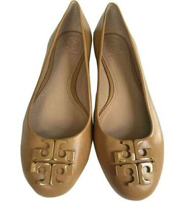 44a25651c217 NIB Tory Burch Lowell 2 Leather Ballet Flat Shoes Blond size 7 ORIGINAL
