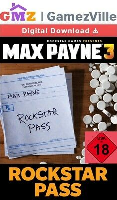 Max Payne 3 III Rockstar Pass Steam Key PC Digital Download