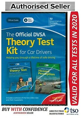 Official DVSA Theory Test Kit for Car Drivers-PC and Mac BRAND 2020 EDITION -KiT