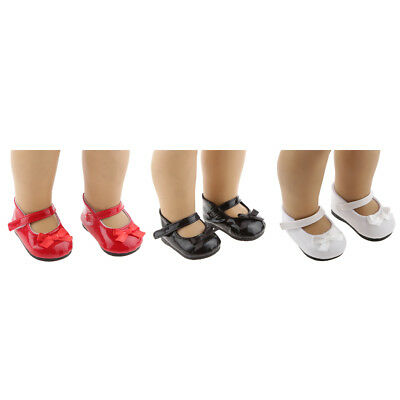 Set of 3 Pairs Bownot Shoes for 18inch American Girl Doll Clothes Accessory