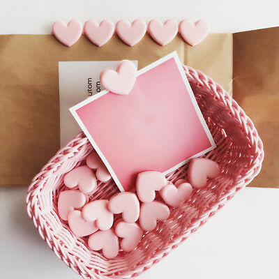 5 Pcs/lot Pink Love Heart Planner Paper Clip Bookmark Office School Supplies