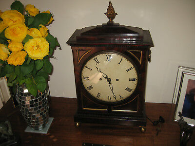 Regency Mahogany Bracket Clock, Excellent Working Condition.