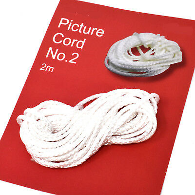 2 METRES POLYESTER PICTURE FRAME HANGING CORD No.2 MEDIUM SIZE  MAX WEIGHT 37kg