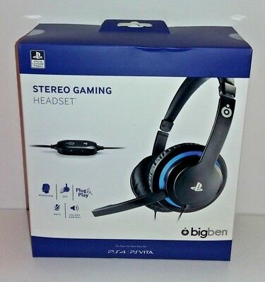Cuffie Gaming Stereo BigBen - Licenza Ufficiale Sony per PS4 NUOVE SIGILLATE 1a566612b7d1