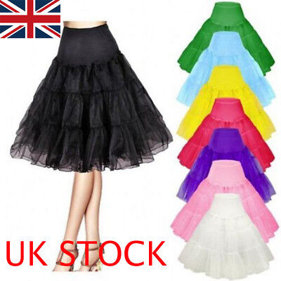 "26"" Retro Underskirt 50s Swing Vintage Petticoat Rockabilly Tutu Net Skirt Dress"
