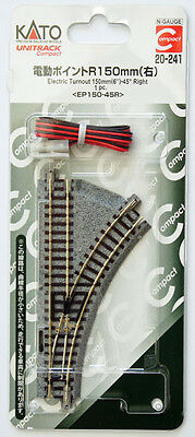 Kato 20-241 UNITRACK Compact Electric Turnout 150mm 45 Right(EP150-45R)(N scale)