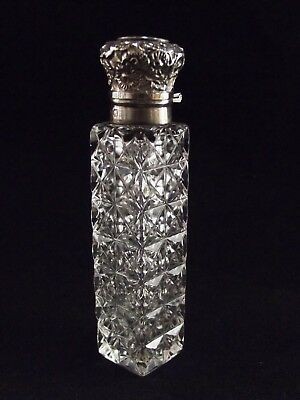 Antique Dressing Table / Scent Bottle With Silver Mount Birmingham 1895 R 881/4