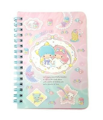 Sanrio Little Twin Stars A6 Spiral Notebook 40 Sheets (180722-00) RegisteredShip