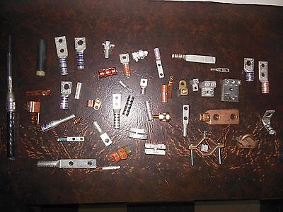 Large Lot Panduit Electrical Grounding Termination Color Coded Copper Aluminum