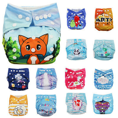 Reusable Baby Infant Nappy Cloth Diaper Cover Washable Free Size Adjustable