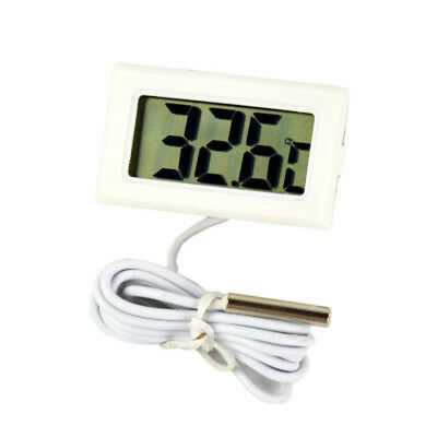 LCD Digital Thermometer with Probe Aquarium Water Black FREE Extra Batteries