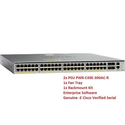 CISCO WS-C4948E-E 48X10/100/1000 Gigabit 4x10GbE SFP+ Enterprise Ser 2xPSU  +Rack