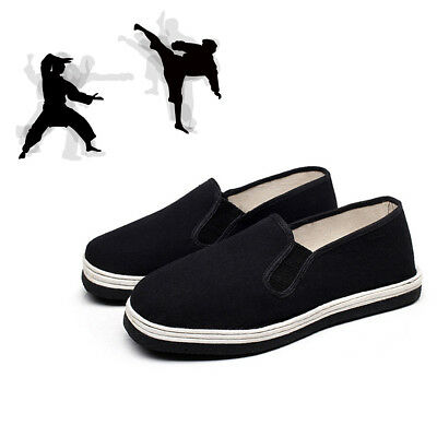 Cotton Breatheable Sole Slip On Chinese Kung Fu Shoes Martial Art Ninja 1Pair
