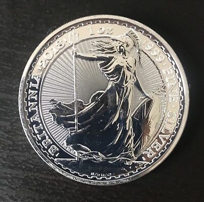 2018 1oz Silver Britannia Bullion Coin .999 Fine One Ounce