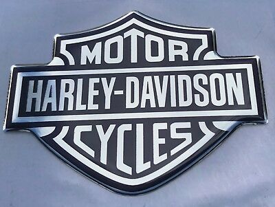 1pcs x HARLEY-DAVIDSON (80x60mm) logo. Domed 3D Stickers/Decals.