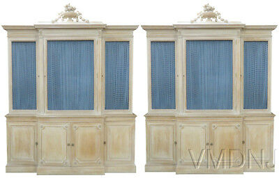 VMD1188-Pair Maison Jansen Regency Style Carved Biblioteques