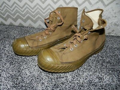 VINTAGE 40's - 50's CONVERSE BOSEY HIGH TOP MILITARY SNEAKERS MADE in THE USA 12