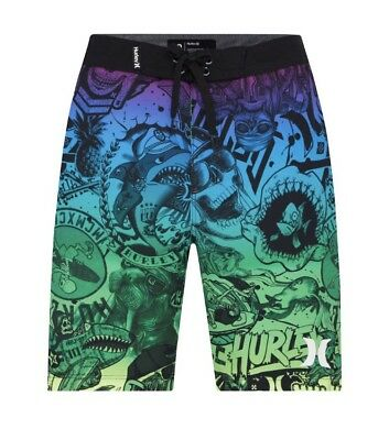NWT Boy's Hurley Collage Board Shorts 18 / 29
