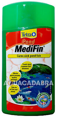TETRA POND MEDIFIN 1 Litre SICK FISH TREATMENT DISEASE PARASITES BACTERIA FUNGUS