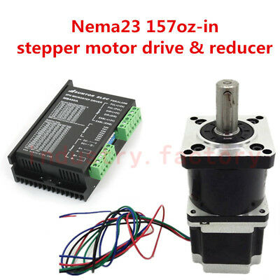 Nema23 Planetary Gearbox 20:1 Stepper Motor L56mm&Driver Controller 24-50V 4.2A