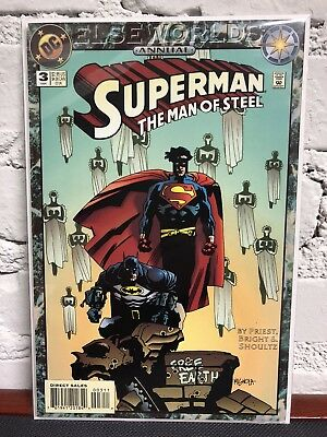 SUPERMAN Man of Steel Annual #3 VF (1994, DC) Elseworlds BATMAN Priest & Bright