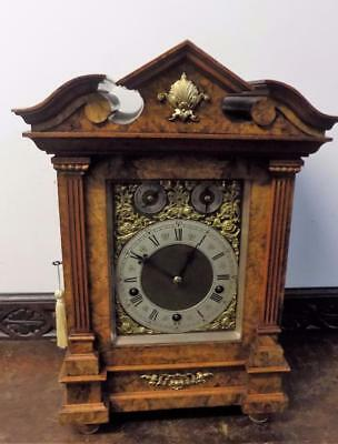 large burr walnut lenzkirch westminster bracket clock on coil gongs