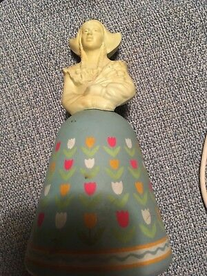 Vintage AVON Tulips Dutch Girl Figurine Perfume Decanter Bottle, full