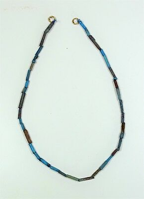 Egypt: A short faience bead necklace, 28.5cm long.