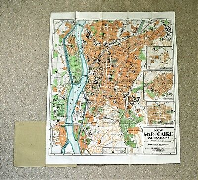 Egypt: New Map of Cairo and Environs, c 1930s.
