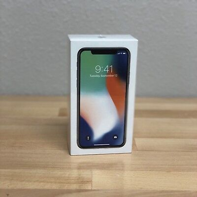 SEALED! NEW! Apple iPhone X - 64GB - Silver (AT&T) (Straight Talk) A1901 (GSM)