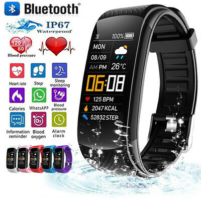 Bluetooth Smart Watch Heart Rate Blood Pressure Sleep Monitor Pedometer Fitbit