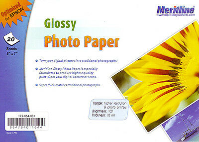 """Glossy Photo Paper 5"""" x 7"""" 20 Sheets With FREE Delivery"""