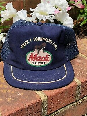 VINTAGE 70S OR 80s Mack Truck trucker hat Made in USA snapback RARE ... ca6d5f419c2